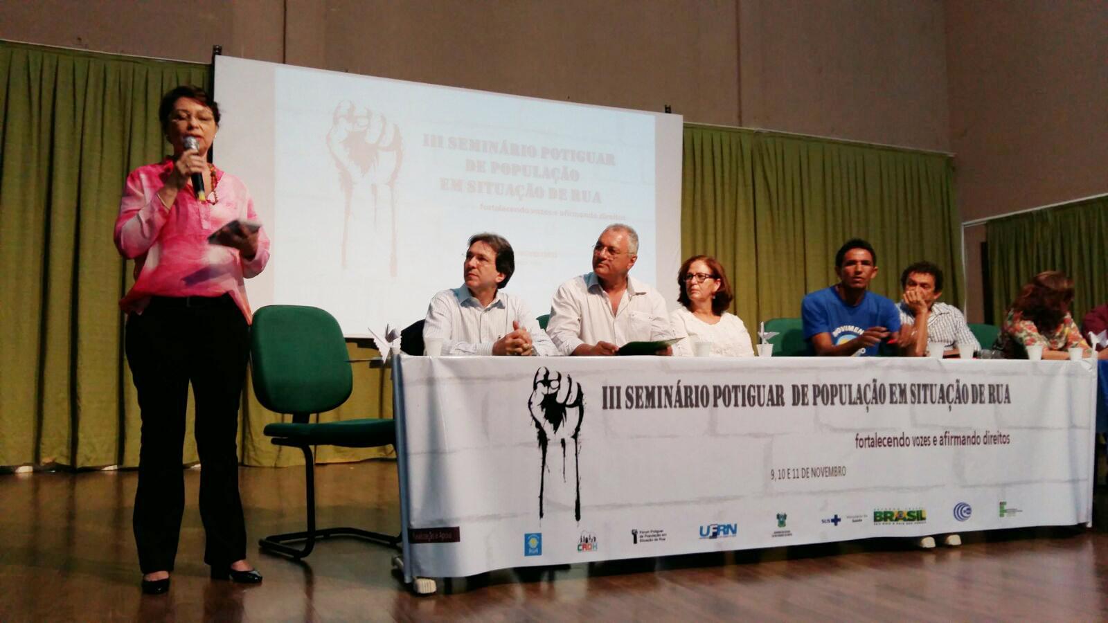 III SEMIN POTIGUAR PESSOAS EM SITUAÇÃO DE RUA_ COORL POLO JOSILEIDE SILVEIRA _10.11.15