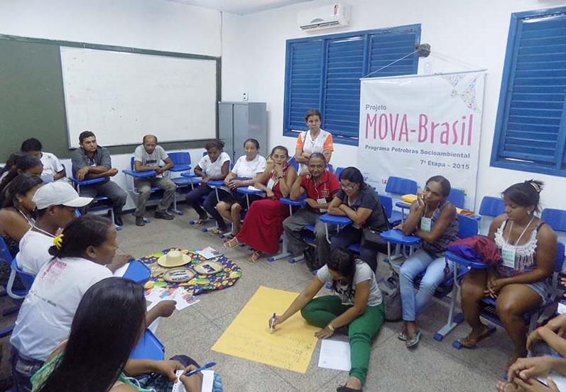 Educandas e educandos participando do GT do Eixo Saúde